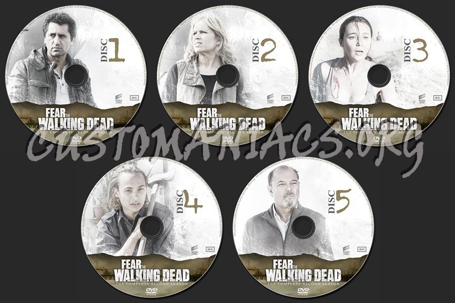 Fear the Walking Dead Season 2 dvd label
