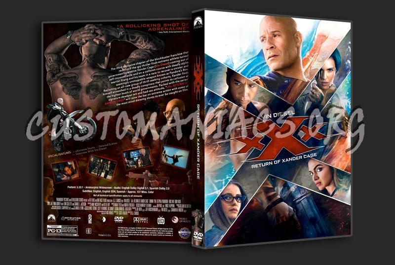 xXx: Return Of Xander Cage dvd cover
