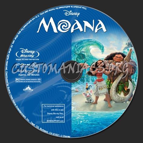 Moana (2D+3D) blu-ray label