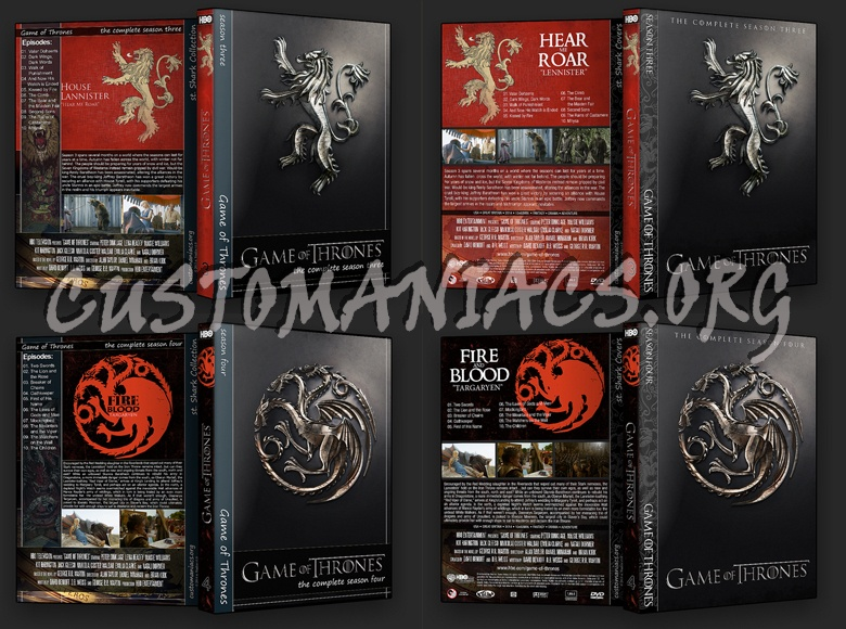 Game of Thrones Collection dvd cover