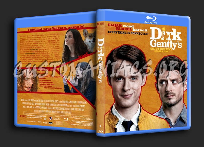 Dirk Gently's Holistic Detective Agency blu-ray cover