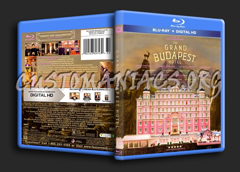 Grand Budapest Hotel blu-ray cover