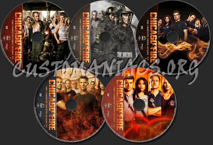 Chicago Fire Seasons 1-5 dvd label
