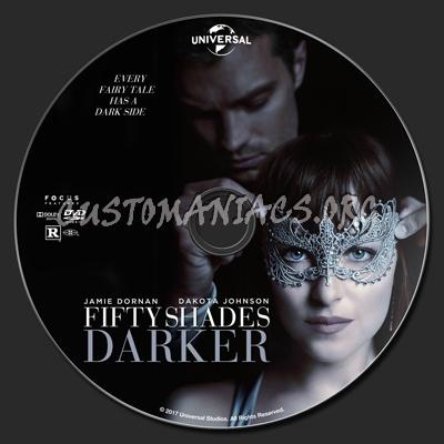 Fifty Shades Darker dvd label