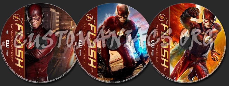 The Flash Seasons 1-3 dvd label