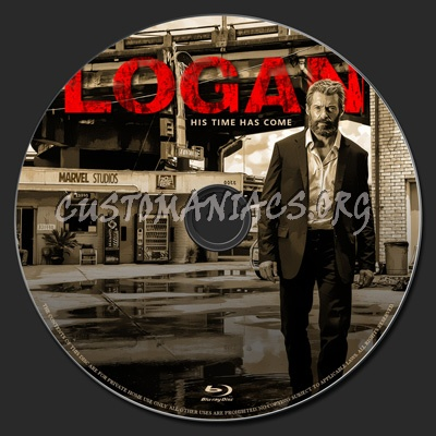Logan blu-ray label