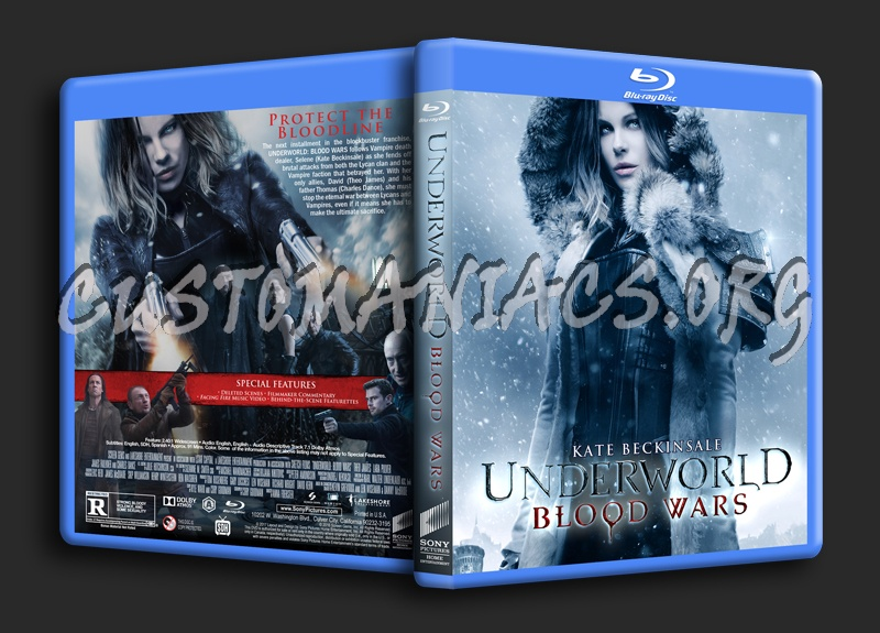Underworld: Blood Wars blu-ray cover