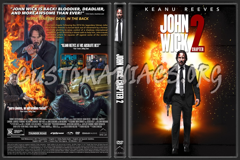 John Wick: Chapter 2 dvd cover