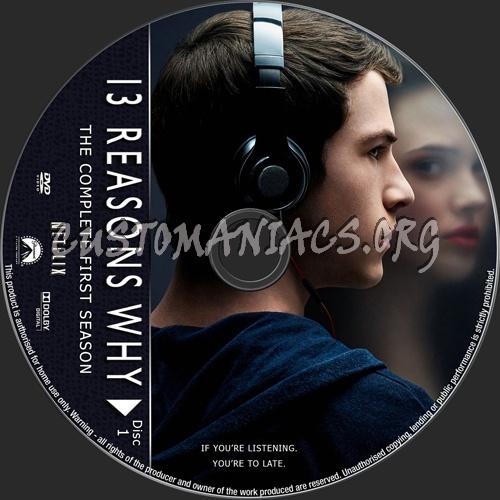 13 Reasons Why Season 1 dvd label