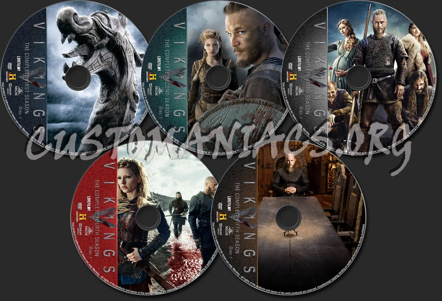 Vikings seasons 1-5 dvd label - DVD Covers & Labels by
