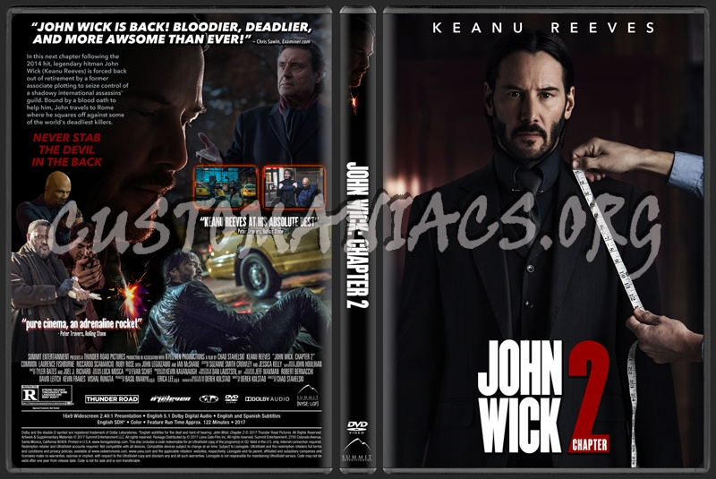 John Wick: Chapter 2 dvd cover