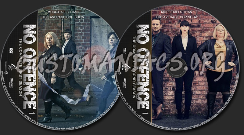 No Offence Seasons 1-2 dvd label