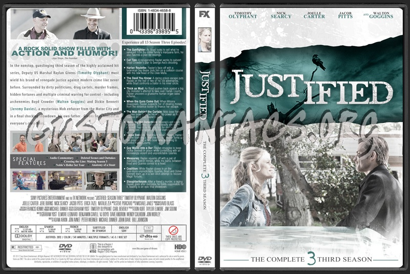 Justified Season 3 dvd cover