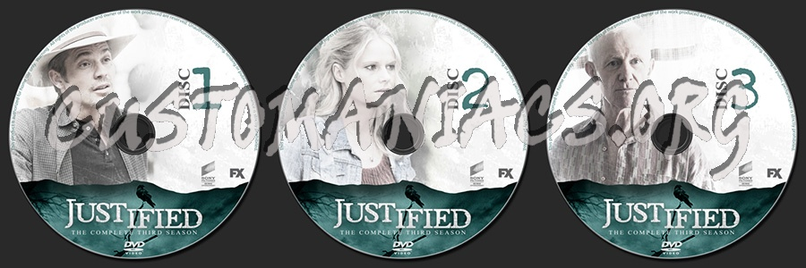 Justified Season 3 dvd label