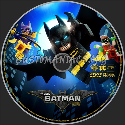 The LEGO Batman Movie (2017) dvd label