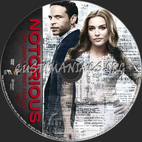 Notorious Season 1 dvd label