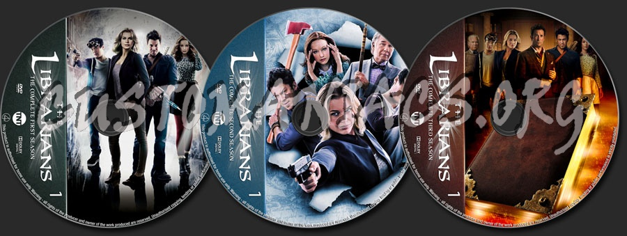 The Librarians Seasons 1-3 dvd label