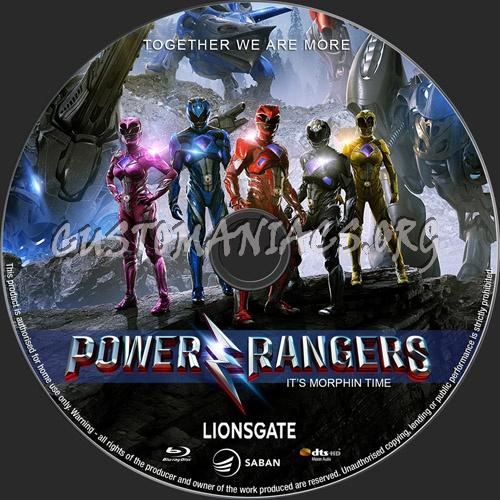 Power Rangers blu-ray label
