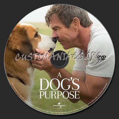 A Dog's Purpose dvd label