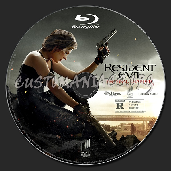 Resident evil the final chapter 2d 3d 4k blu ray label dvd covers labels by customaniacs - Resident evil final chapter 4k ...