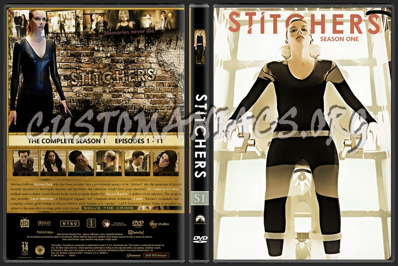 Stitchers  (Season One) dvd cover