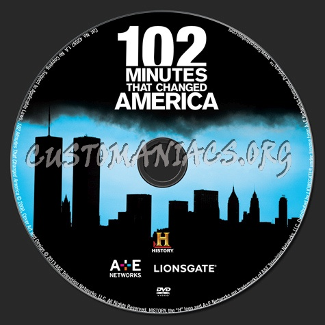 102 Minutes That Changed America dvd label