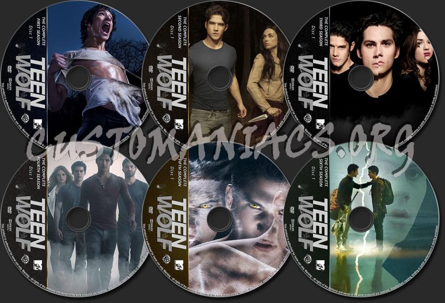 Teen Wolf Seasons 1-6 dvd label