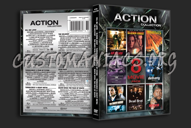 Action Collection 8 Movie Pack dvd cover