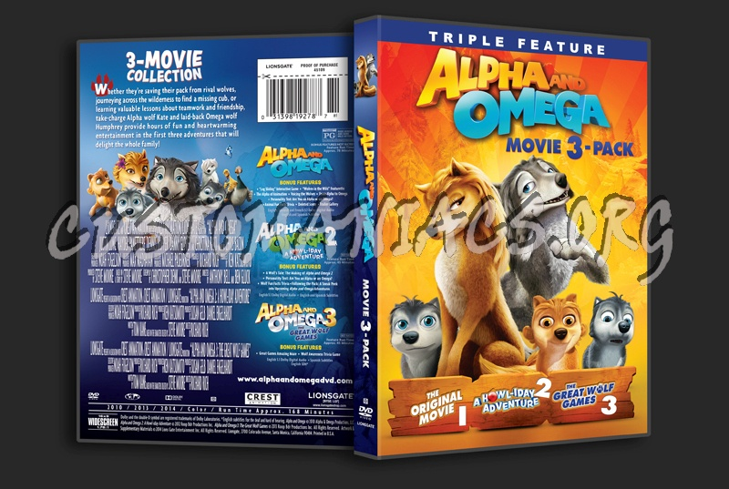 Alpha and Omega Movie 3-Pack dvd cover