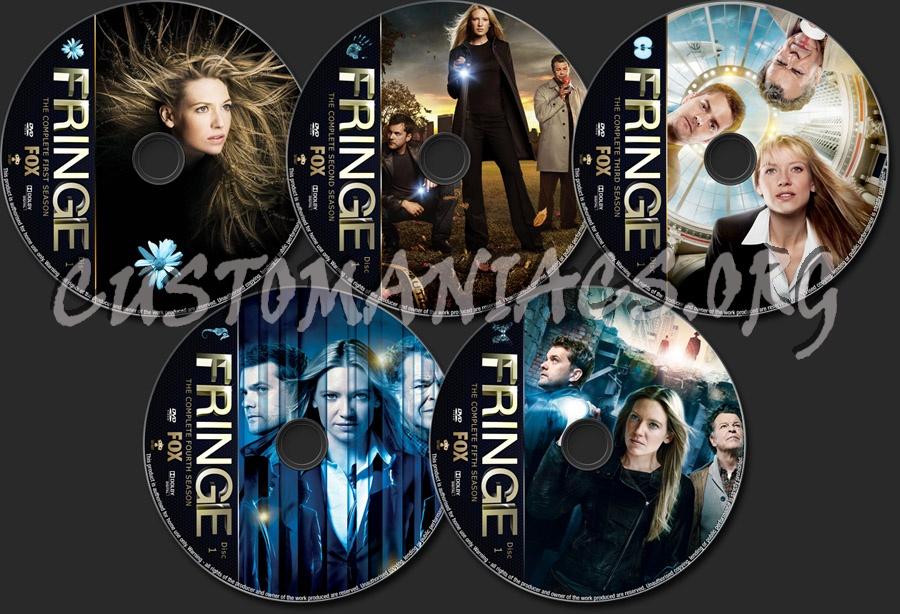Fringe Seasons 1-5 dvd label