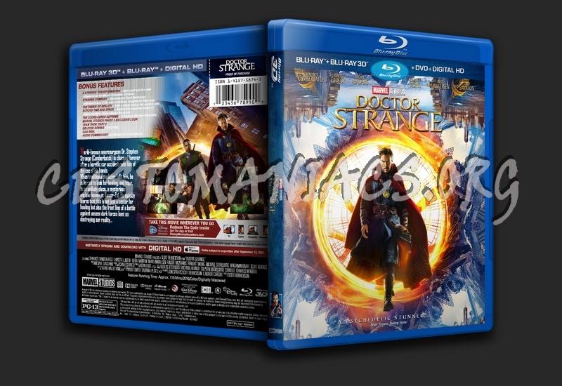 Doctor Strange (2016) 3D blu-ray cover