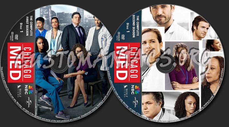Chicago Med Seasons 1-2 dvd label