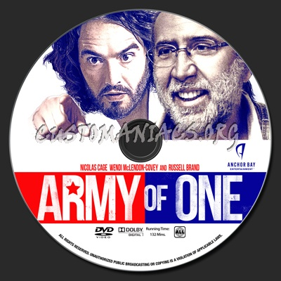 Army Of One dvd label