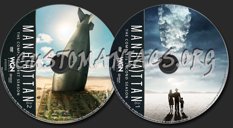 Manhattan Season 1-2 dvd label