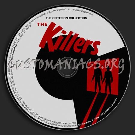 176 - The Killers dvd label