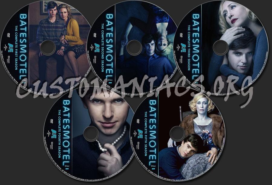 Bates Motel Seasons 1-5 dvd label