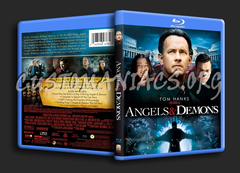 Angels Demons Blu Ray Cover Dvd Covers Labels By Customaniacs