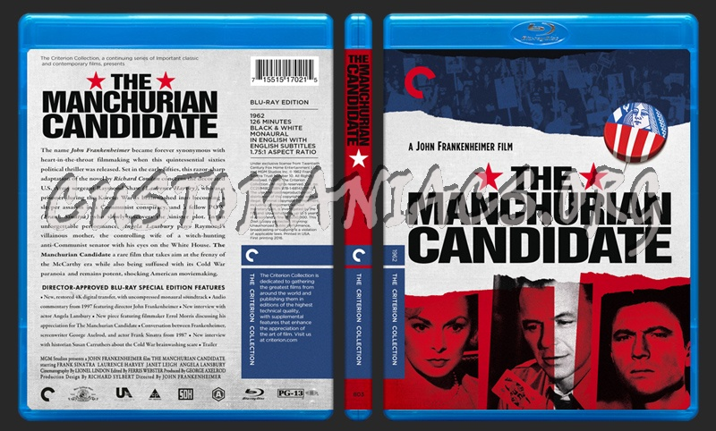 803 - The Manchurian Candidate blu-ray cover