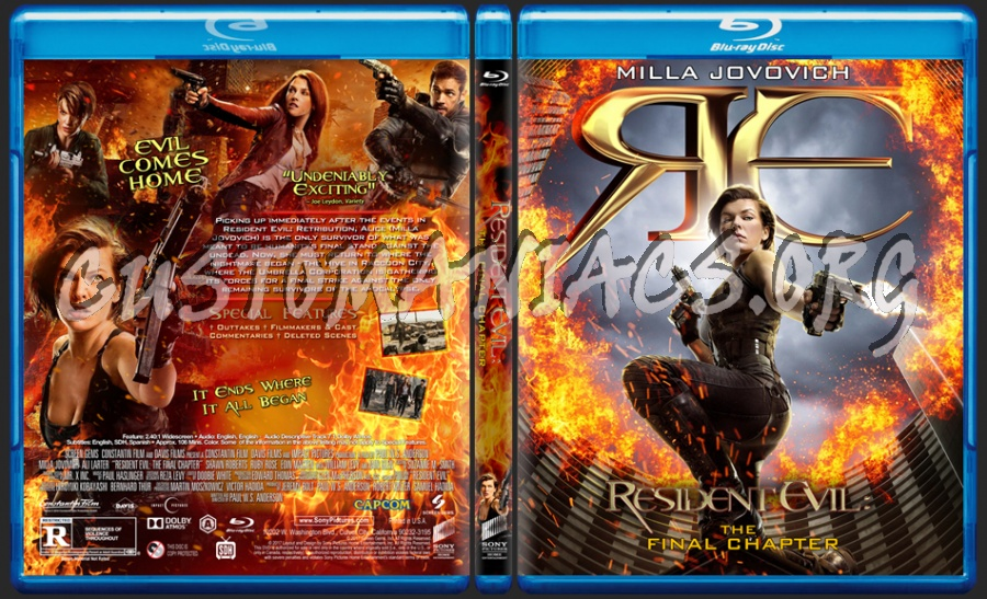 Resident Evil: The Final Chapter blu-ray cover