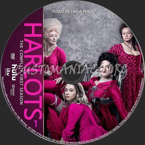 Harlots Season 1 dvd label
