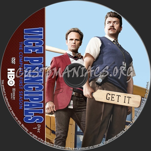 Vice Principals Season 1 dvd label
