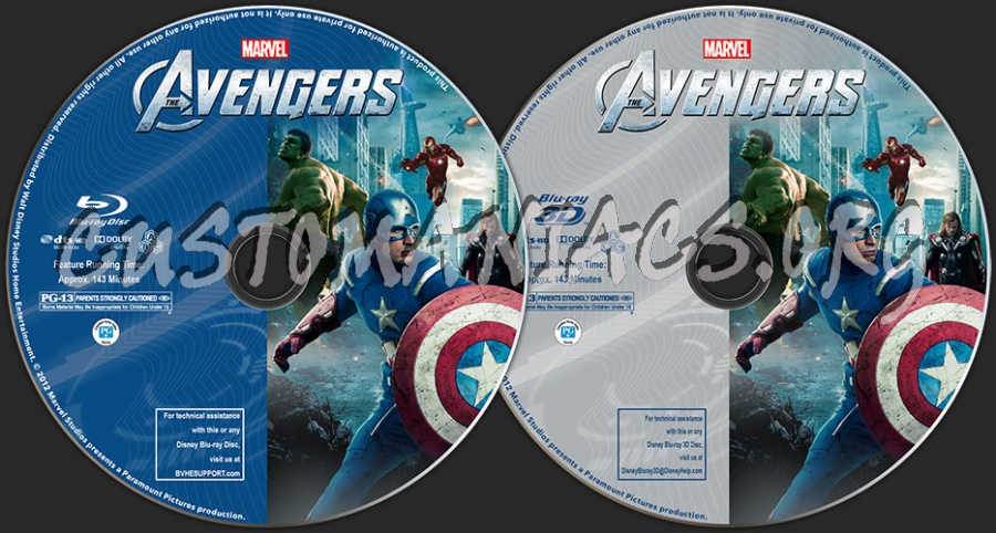 The Avengers (2D + 3D) blu-ray label