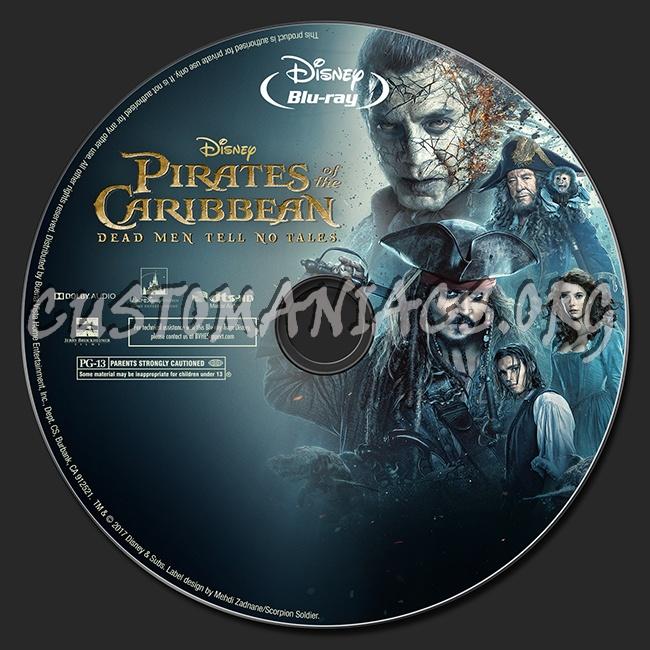 Pirates of the Caribbean: Dead Men Tell No Tales (2D/3D/4K) blu-ray label