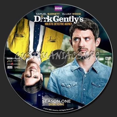 Dirk Gently's Holistic Detective Agency Season 1 (2016) dvd label