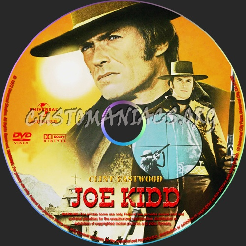 Joe Kidd dvd label
