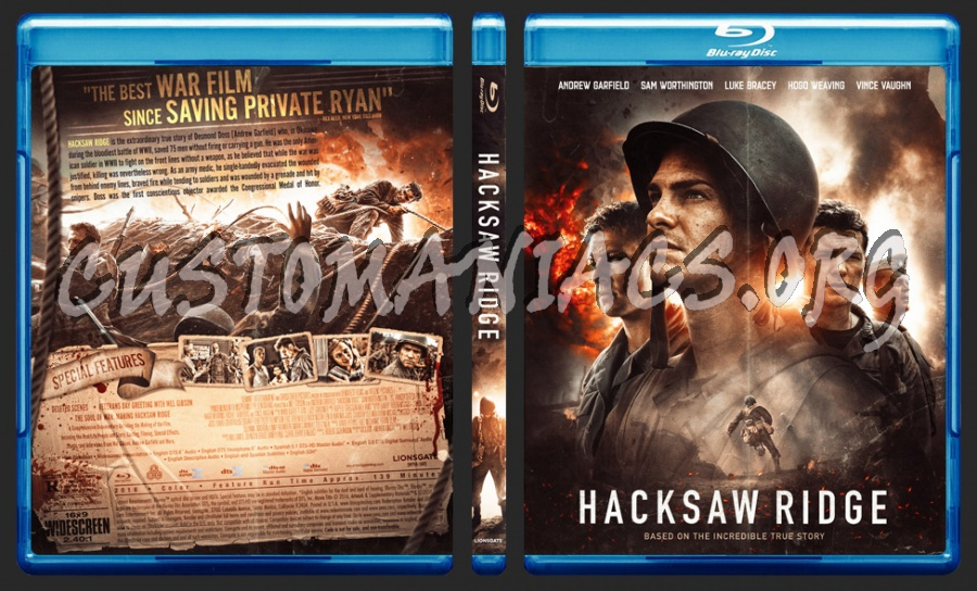 Hacksaw Ridge 2016 Blu Ray Cover Dvd Covers Labels By Customaniacs Id 245487 Free Download Highres Blu Ray Cover