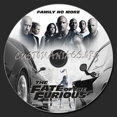 The Fate Of The Furious dvd label