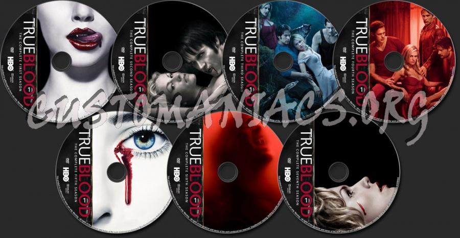 True Blood Seasons 1-7 dvd label