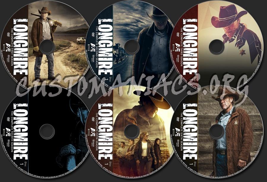 Longmire Seasons 1-6 dvd label