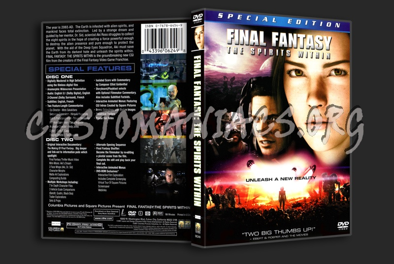 Final Fantasy: The Spirits Within dvd cover